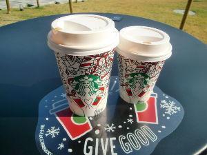バイク好き「大人の遠足~」関西発 スターバックス・ハーバーランド行ってきました! カップがクリスマス~♪ 超カワイイ❤