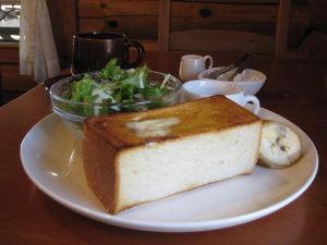 バイク好き「大人の遠足~」関西発 和歌山橋本 カフェLOG  厚切りトースト