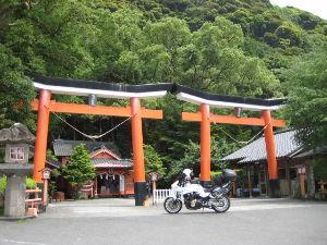 バイク好き「大人の遠足~」関西発 諏訪神社 並列鳥居