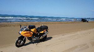 バイク好き「大人の遠足~」関西発 先日、千里浜行ってきました(^^)