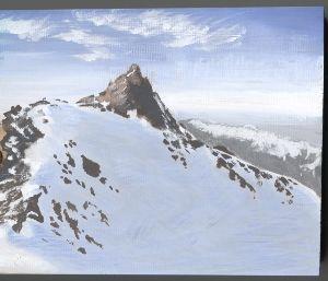 山のアクリル画 油絵の具は使ったことがないのです。 >アクリルは重ねが利くので良いです。