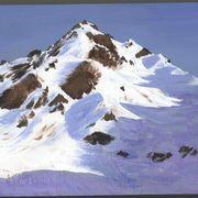 山のアクリル画
