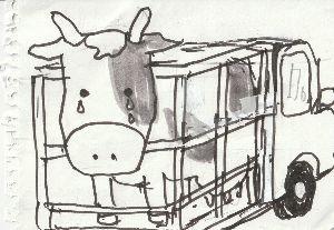 楽しい「しりとり都々逸」 アウシュビッツに  ある牛もびっくり    これじゃあまるで   ドナドナだ