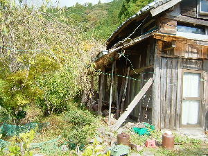 遠江国亀久保村長郷(周智郡森町亀久保497) 限界集落の一軒、最近まで東京の人の別荘としていたがその人も高齢で体調不良でこの地へ来れなくなり家が荒