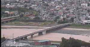 6149 - (株)小田原エンジニアリング さすが株主ですね。 松田山のライブカメラからだと、工場付近の決壊は無い様に見えます。 (橋の手前の左