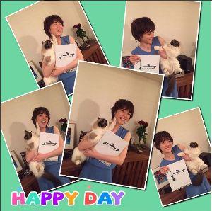 上野樹里ちゃんとニャム!!(`Δ´) 上野樹里様 Happy Birthday ニャム!!