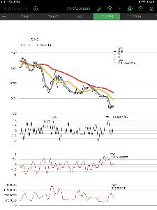 4563 - アンジェス(株) 現実は 含み損の チャート   下ポチでいいよ