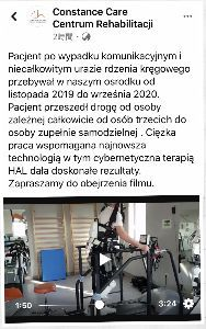 CYBERDYNE 情報・ニュース・体験談・予想・期待・思い などなど掲示板♬♬ ポーランドのHAL治療センターは、昨年11月に治療を開始した患者の素晴らしい回復ぶりをビデオで一昨日