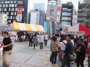 日本酒が大好きの会 広島県酒祭りの報告です。   今年は、開催日が土曜日となって5時からの開催に 5分程遅れていきました