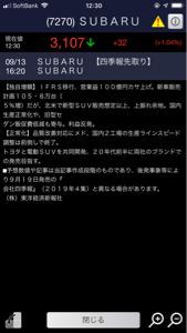 7270 - (株)SUBARU つ