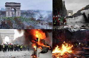 カフェ京都 ウッドさん、おはようございます⛅🙋 YahooNewsからですが、フランスはパリのシャンゼリゼ通りで