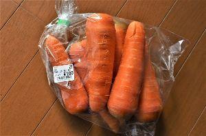 60歳になりました♪ 三寒四温。 徐々に温かくなってきます。 昨日も人参(自家栽培野菜)が底をついたので、近所のスーパーで