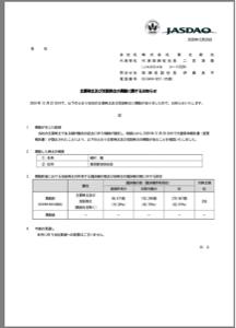 2329 - (株)東北新社 相続問題が片付いたための投げ売りですね。