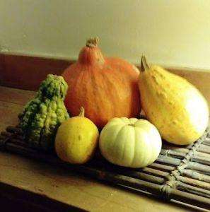 Let'sPensées! ハローウィンにちなんで、かぼちゃをいただきましたので、飾ってみました。