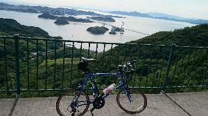 しまなみ海道!走破にむけて^^/ 大島では、亀老山へヒルクライム^^/ しんどかったけど、頂上かせの眺めはサイコー♪です^^/