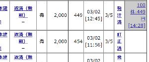 8893 - (株)新日本建物 【昨日買った441円が449円で売れましたよん!!】  今日は利確ヤリ注文の方が刺さりましたよん!!