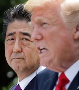 998407 - 日経平均株価 トランプの日本への方針は 安倍氏のこの表情でわかるやろ