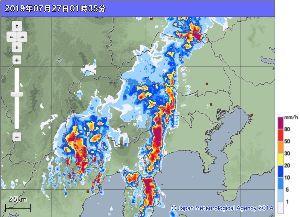 998407 - 日経平均株価 台風は紀伊半島沖だけど雨は東京に来ています 都心は降っていないけど、その周囲は大雨です