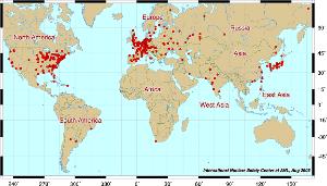 998407 - 日経平均株価 世界の原子力発電所分布地図
