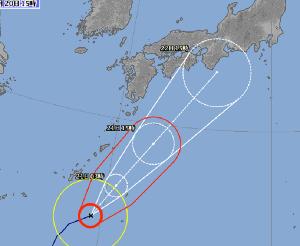 998407 - 日経平均株価 ゲッ・・・。 台風20号、少し進路が北寄りになったぞ。(気象庁HP,台風情報) 弱りながらの接近だけ