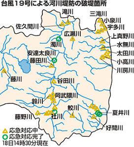 998407 - 日経平均株価 福島県だけで、こんなにも決壊したのか これは悲痛になる 壊滅だよ 堤防を高くしても無駄だ 川底をひた