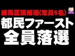 小池百合子・東京都知事 都民ファーストが全員落選 (4/15:練馬区議選)