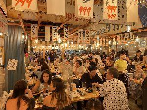 4755 - 楽天グループ(株) これが緊急事態宣言下の東京。 居酒屋のテレビでオリンピックを観戦しながらマスクもせずにぺちゃくちゃ喋