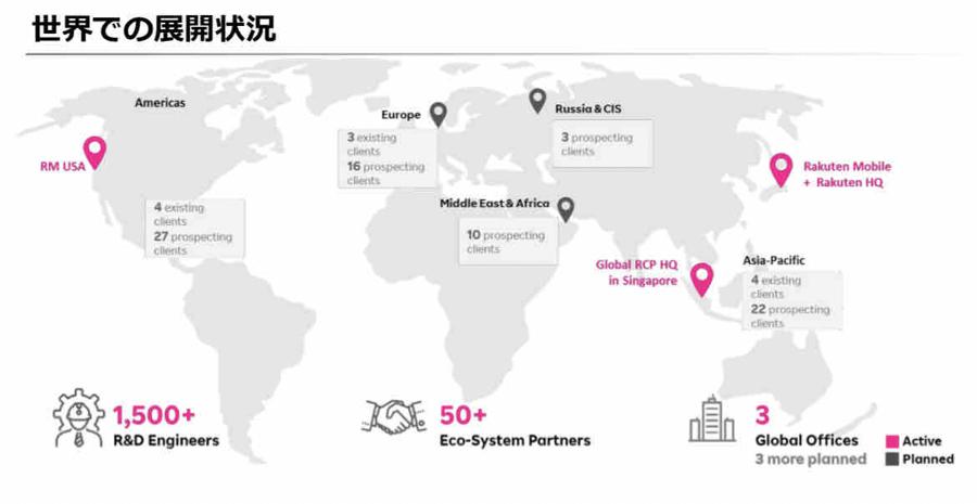 4755 - 楽天グループ(株) 5月時点でのRCP世界展開