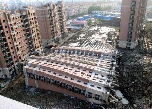 998407 - 日経平均株価 中華人民共和国、崩壊の始まり  俺、この基礎見てこのレベルの殺人ビル、中国には恐ろしい数あると思った