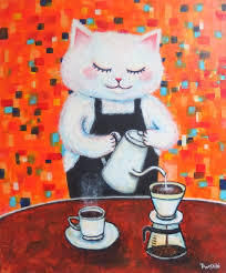 猫の祟り のら猫さん ~~~ヾ(^∇^)おはようー♪  今日はいいおてんきですよ ☀  朝Coff
