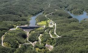 沖縄・石垣・八重山諸島へ 普久川ダム   ダム脇の展望台からダムとダム湖を一望  安波川水系普久川にあり、福地ダム・新川ダム・