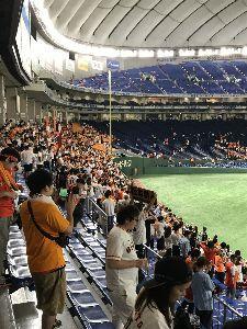 2017年7月10日(月) 巨人 vs ヤクルト 11回戦 ビバビバ(^o^)/ 久しぶりに二次会楽しんでました〜(^^)
