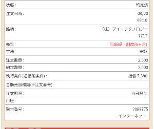 7717 - (株)ブイ・テクノロジー 本日激安で買い増しできてよかった。 いずれ1万円超えてくるだろう。なにせサヤ寄せ株だから