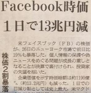 社会正義+ やじ馬 Facebook  一挙に衰退、倒産倒産の危機!  明日からは Deathbookと社名変更ってか?