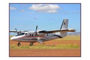 ケニヤでサファリ ケニアのマサイマラ空港、滑走路が、砂利道でした。驚き・・・