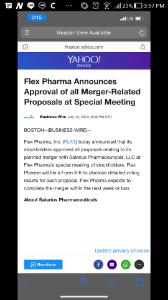 FLKS - フレックス・ファーマ merger is approved.  テン🍔の道へ一直線か