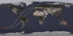 TSLA - テスラ すごい速さで動いてますね。海外旅行で乗る旅客機の移動速度とは比べ物にならない(当たり前か)。