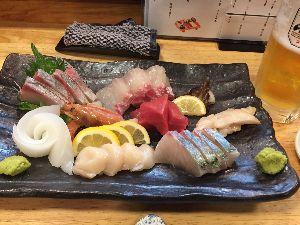 食べたラーメン お刺身(*^^*)