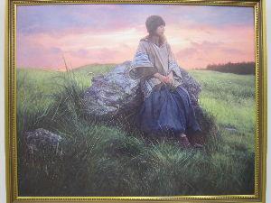 匣屋(パーカーアトリエ) 「草のおと」だったかな? 違ってたら ごめんなさい 後ろの空の色と 草の感じが好きです