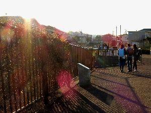 ゴルフの呼吸法は? 息は止めるか、吐くか 冬の陽の語らい   小川沿いの遊歩道  下校途中の仲良し3人組  傾く冬の日差しを浴び  鈴を振る笑