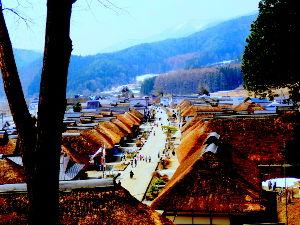7203 - トヨタ自動車(株) 大内宿 4月初めて行った 年間100万人以上の観光客という 福島県への想い いろいろある