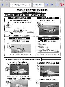 7003 - 三井造船(株) 平成30年度 海上保安庁関係 予算概算要求概要。