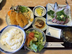 Touring Chiba お疲れ様です。丸五の黄金アジセット美味しかったです。