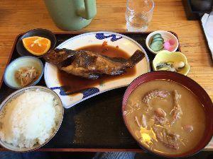 Touring Chiba カサゴの煮付け食べてきましたよ。シャコの味噌汁も美味しかったです。