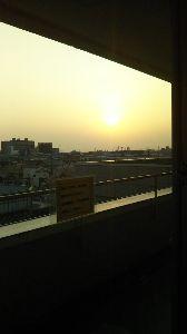私流の自然体写真 朝の太陽はぐんぐん上昇します。