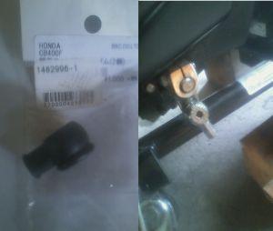 Heistのオーナーの情報交換の場 ついでにギアロッドゴムカバーを新品にしました。 丁度CB400Fのがぴったり合います。 でも2個で1