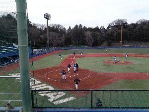 明治学院大学野球部を応援します! [ 日体大Aに5対4で勝利 ]  3月7日、日体大健志台球場でオープン戦が行われた。明学は初回表に河