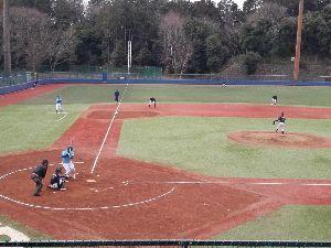明治学院大学野球部を応援します! [ 四番に投ずる蓬田投手 ]  都立文京時代に既に140Km中盤の速球を投げていた蓬田。7日のオープ