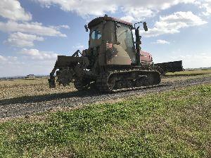 コンバイン 明渠掘りを終えました。  圃場に水が溜まった後なのでもうロータリデッチャーでしか明渠を掘ることが出来