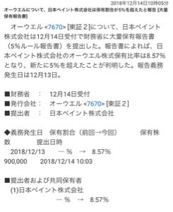 7670 - オーウエル(株) 本日日本ペイントから、大量報告書出てるしな。